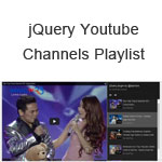 jQuery Youtube Channels Playlist
