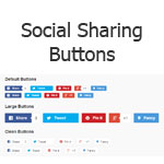 jQuery Social Sharing Buttons