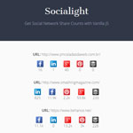 Socialight - Get Social Network Share Counts