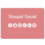 Stoopid Social - Dynamically creates share buttons