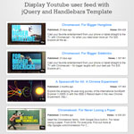 Youtubars - Display Youtube user feed
