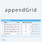appendGrid - The dynamic table input