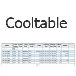 jQuery Cooltable - Creating tables with sorting, filtering