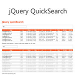 Quicksearch - Searching through tables, lists