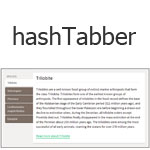 hashTabber - Hashchange-driven tabbed navigation