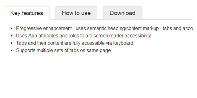 jQuery Responsive Tabs Plugin