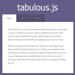 tabulous.js - A jQuery tabs module for todays web