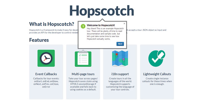 Hopscotch - Add product tours to your pages