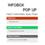 Infobox Error message jquery plugin