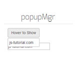 popupMgr - Create a popup box