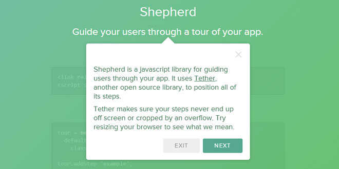 Shepherd - Guide your users through a tour
