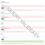 jQuery Valideasy - Easy to handle your form validation rules