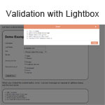 Validation with lightbox