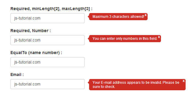 Validetta - Tiny jquery plugin for validate forms